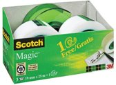 Value Pack: 3 x Scotch® Magic™ Tape, 19 mm x 25 m + GRATIS Navulbare Handdispenser