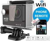 Action Camera EKEN W9 Full HD 4K Wifi & HDMI met 23 accessoires + 16GB SD kaart Class10