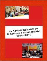 La Agenda Semanal de la Escuela Secundaria del 2018-2019