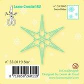 Leane Creatief - stempel Star 55.0119