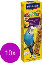Vitakraft Parkiet Kracker - Fruit - 2 in 1 - 10 Stuks - Vogelvoer