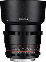 Samyang 85mm T1.5 Vdslr As If Umc II - Prime lens - geschikt voor Nikon Spiegelreflex