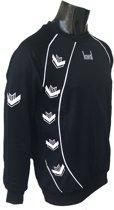 KWD Sweater Pronto - Zwart/wit - Maat XXL