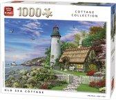 King Puzzel 1000 Stukjes (68 x 49 cm) - Old Sea Cottage - Legpuzzel Vuurtoren