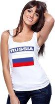 Singlet shirt/ tanktop Russische vlag wit dames M