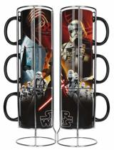 Star Wars - 3 Mokken Set - Kylo Ren - The First Order - Zwart - Keramiek