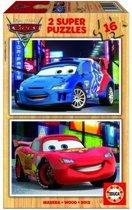 Educa HOUT: Cars - 2 x 16 stukjes