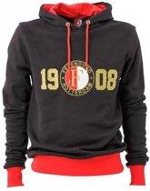 Feyenoord Sweater Hooded 1908 Maat S Zwart
