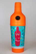 PETman oranje met wikkel 210 l - inzamelfles voor petflesjes