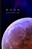 Moon: 6 x 9 Lined Writing Notebook Journal, 120 pages for Taking Notes, Writing Essays, Journaling