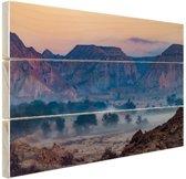 Woestijngebied Midden-Oosten Hout 30x20 cm - klein - Foto print op Hout (Wanddecoratie)