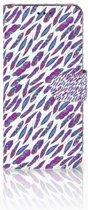 Samsung Galaxy A6 2018 Boekhoesje Design Feathers Color