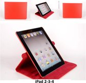 Book Case Tablet voor Apple iPad 2; Apple iPad 3; Apple iPad 4 - Rood