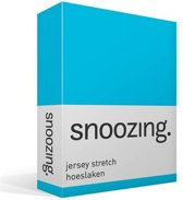 Snoozing Jersey Stretch - Hoeslaken - Lits-jumeaux - 200x200/220 cm - Turquoise