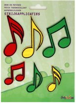 Applicaties 6 stuks op kaart Limburg muzieknoten