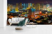 Fotobehang vinyl - Kleurrijke verlichting in Manila breedte 535 cm x hoogte 300 cm - Foto print op behang (in 7 formaten beschikbaar)
