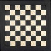Luxe houten schaakbord zwart en esdoorn 55 cm - veldmaat 55 mm - maat 6