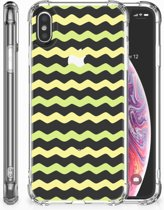 iPhone Xs Max  TPU-siliconen Hoesje Waves Yellow