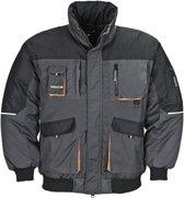 Terratrend Pilotjack Grijs&Zwart&Oranje - Werkkleding - L