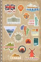 Reisejournal: Weltenbummler Tagebuch zum Selbstgestalten, Blanko ca. A5 - Reise Journal f�r Globetrotter, Urlaub, Ferien, Auslandsja