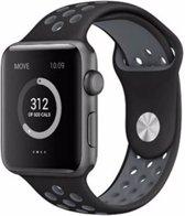 42mm Apple Watch Nike sportbandje - 42mm - zwart / grijs