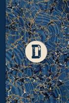 Monogram D Marble Notebook (Blue Ginger Edition)