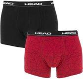 Head - Heren 2-Pack Mesh Print Boxershorts Rood Zwart - L
