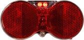 Herrmans Achterlicht H-vision Led Batterij 80 Mm Zwart