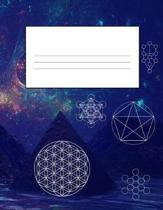 Sacred Geometry 8.5 x 11 150 Pages Journal Notebook