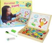 Houten Krijtbord Whiteboard Beide Kanten Magnetisch 71-Delig |  Multifunctionele Bord Met Dieren Voor Kinderen - Whitebord Tekenbord | Play&Grow