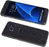 Xssive Glitter Sticker voor Samsung Galaxy S7 Edge G935 Zwart Grijs Duo Pack - 2 stuks