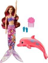 Barbie Magische Dolfijn Transformerende Zeemeerminpop - Barbiepop