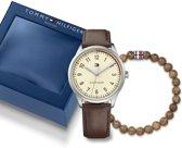 Tommy Hilfiger TH2770020 Giftset horloge heren - bruin - edelstaal