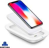 Draadloze Powerbank - 10000 mAh oplader - Externe Batterij voor iPhone, Samsung & Qi Smartphones