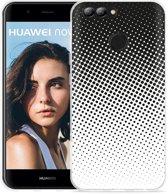Huawei Nova 2 Hoesje zwart witte cirkels