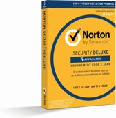 Norton Security Deluxe 2019 5 Apparaten | 1 Jaar | Antivirus inbegrepen | Windows / Mac / iOS / Android | Download