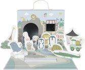 Afbeelding van Little Dutch Speelkoffer dierentuin speelgoed