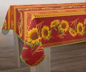 Tafelkleed anti-vlek Tournesol rouge 200 x 150 cm