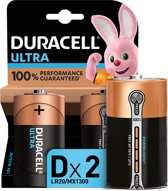 Duracell Ultra Power - D Ultra Power batterijen - 2 stuks