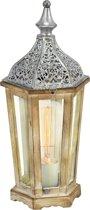 EGLO Vintage Kinghorn - Tafellamp - 1 Lichts - Zilver - Helder Glas