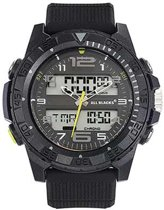 All Blacks 680326 digitaal/ analoog horloge 48 mm 100 meter zwart/ geel