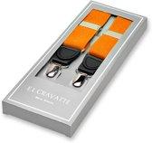 E.L. Cravatte Bretels - Oranje - Met écht leer