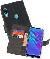 Wallet Cases Hoesje voor Huawei Y6 / Y6 Prime 2019 Zwart