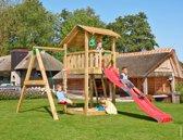 Jungle Gym – Shelter 1-Swing - Speeltoestel Schommelset - Met Glijbaan - Rood