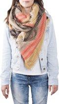 Clayre & Eef Sjaal stripes 130x130 cm