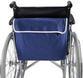 OBBOmed - Draagtas voor rolstoel - voorzien van twee grote opbergvakken - van denim stof - Rolstoeltas - kleur blauw - MY 5940N