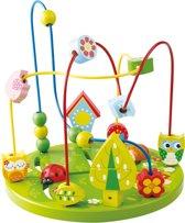 Afbeelding van Playwood - Kralenframe Motoriek groot groen uil en vogel speelgoed