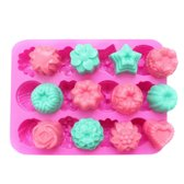 Kitchen Princess - Siliconen Bakvorm Divers - Cupcakes Muffin Vorm - 12 Stuks