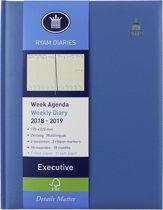 Agenda - 2019-2020 - 18 maanden - weekoverzicht - TURQUOISE - A5 (17x22cm)