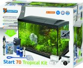 SuperFish Aqua 70 LED Tropical Kit Aquarium - Zwart - 70L - 56 x 32 x 39.5  cm